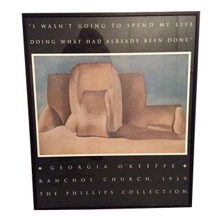 Georgia O'Keefe Ranchos Church Framed Poster