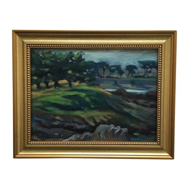 Abstract Seaside Landscape Painting Pacific Grove - Image 1 of 11
