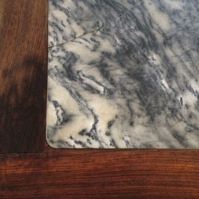 Chinoiserie Mother of Pearl Marble Table - Image 7 of 9