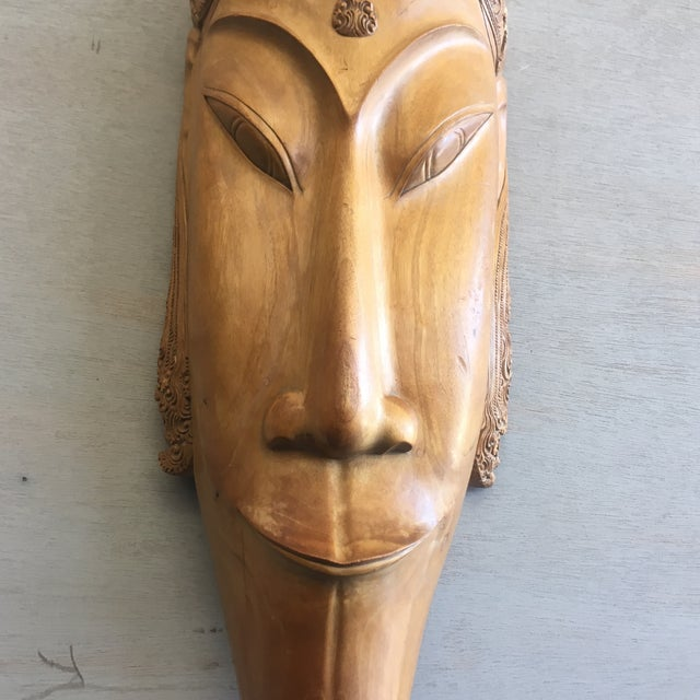 Southeast Asian Hand Carved Tribal Mask - Image 7 of 11