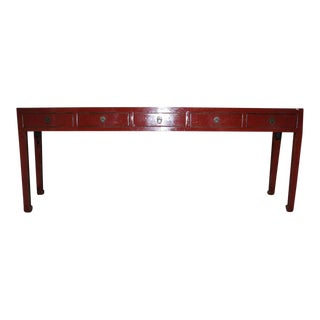 5-Drawer Elm Wood Console