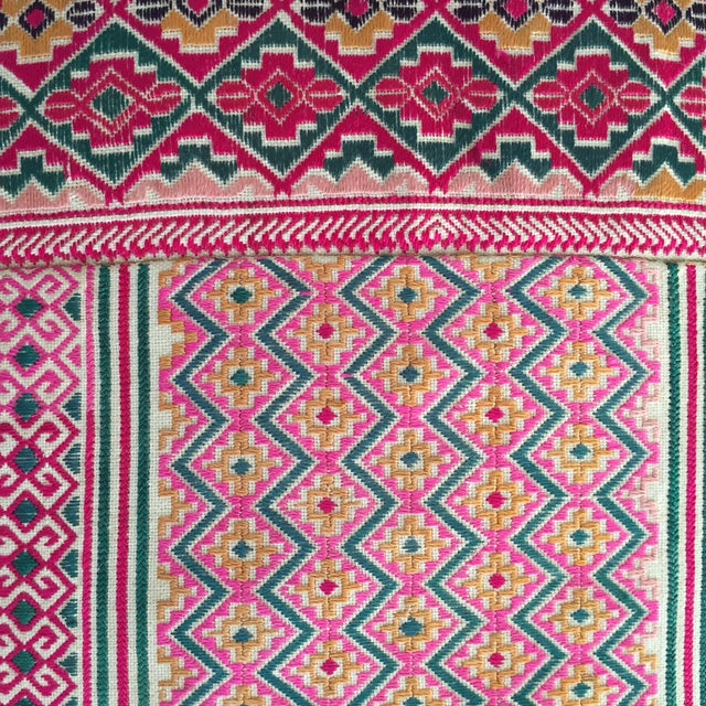 Indian Woven Pillow - Image 3 of 4