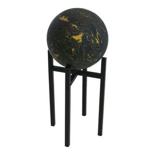 Marbleized Sphere On A Stand