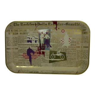 Vintage 'Rockford Daily Register' Serving Tray