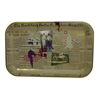 Vintage 'Rockford Daily Register' Serving Tray