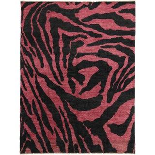 "Contemporary Zebra Print Moroccan Style Rug -- 10'6"" x 13'10"""
