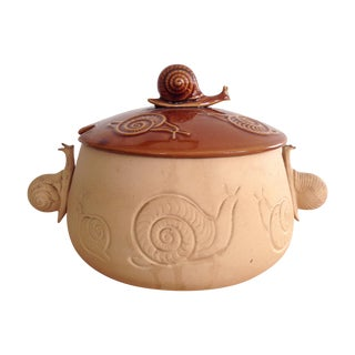Vintage Snail Tureen Soup Serving Bowl