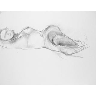 """Model Resting"" Original Drawing by Martha Holden"