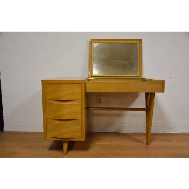 Red Lion Bleached Mahogany Vanity Desk and Chair - Image 3 of 11