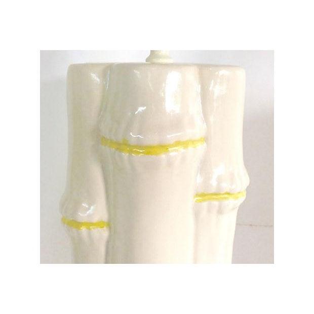 1960s Ceramic Faux Bamboo Lamps - Pair - Image 3 of 6