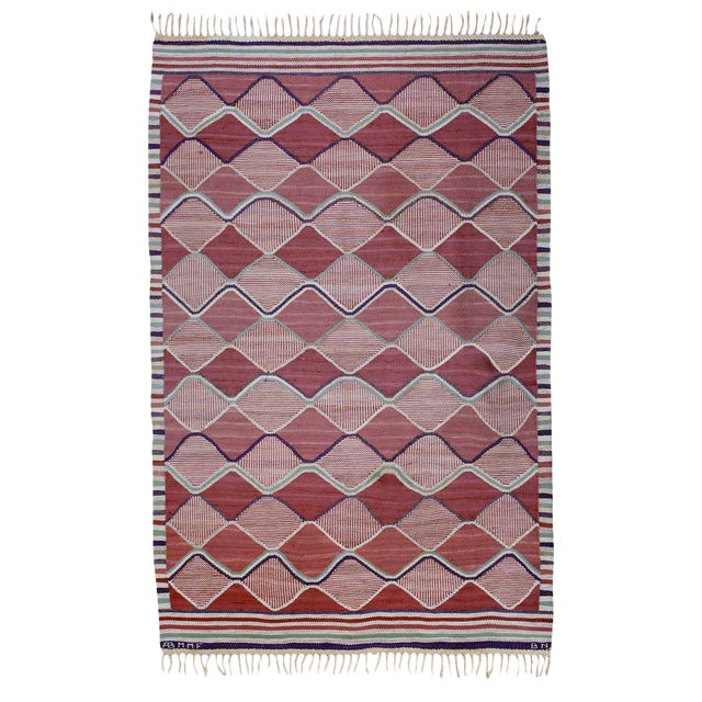 Vintage Barbro Nilsson Flat-Weave Swedish Carpet for Marta Maas-Fjetterström - Image 1 of 10