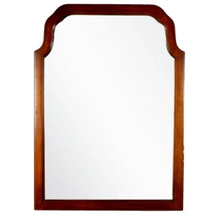 Vintage Walnut Mirror With Beveled Frame
