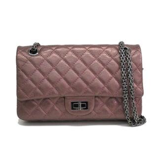 Chanel 2.55 Double Flap Lambskin Shoulder Bag