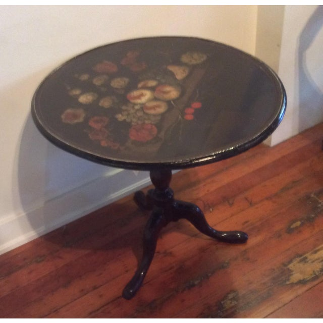 Image of 18th Century Dutch Tilt Top Table With Still Life