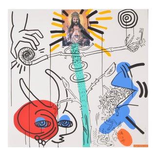 Large Keith Haring Apocalypse X Silkscreen