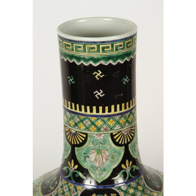 Image of Pair of Famile Verte Art Deco Vases