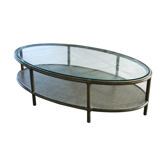 Barbara barry ellipse cocktail table chairish Barbara barry coffee table