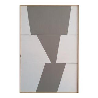 "Jason Trotter Original Acrylic Painting ""Gray Formation Triptych Jet0503"""