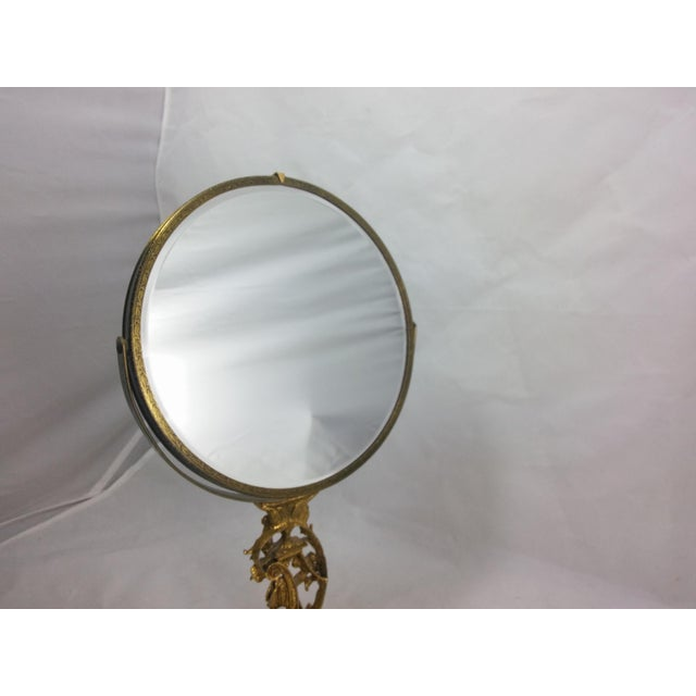 1950s Boudoir Ormolu Vanity Mirror by Matson - Image 8 of 11