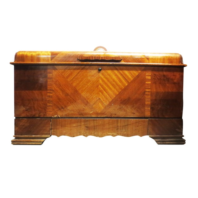 Art Deco Cedar Chest W/ Clock - Image 5 of 10