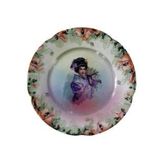 Vintage Geisha Girl Plate