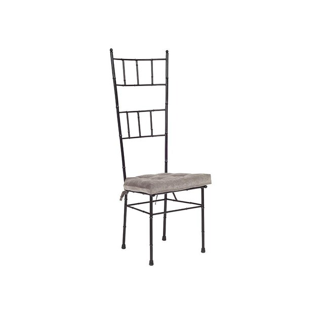 Black Faux Bamboo Dining Chairs - Set of 6 - Image 2 of 5