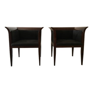 Art Deco Style Accent Chairs - A Pair