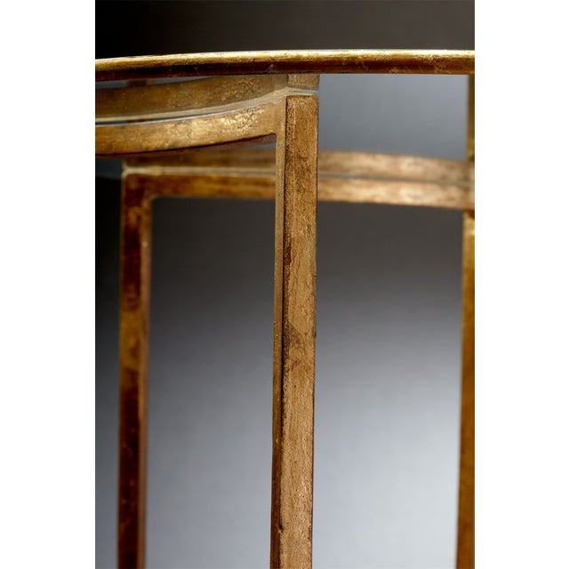 Gold and Glass Vincenzo End Tables - A Pair - Image 3 of 4