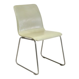 Brazilian Modern Cream Leather Side Chair