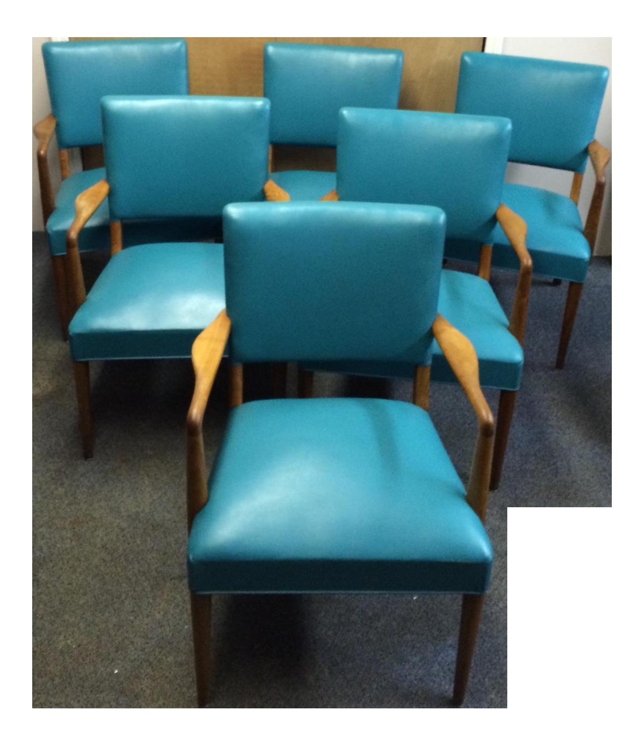Mid Century Stow Davis Arm Chair   Set Of 6