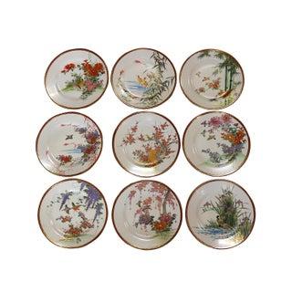 Vintage Fine China Porcelain Dining Plates - Set of 9