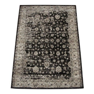 "Vintage Style Distressed Brown Rug- 5'3"" x 7'7"""