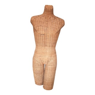 Vintage Wicker Mannequin Torso Androgynous Male Female