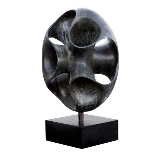 Image of Oly Studio Mobius Black Resin Sculpture