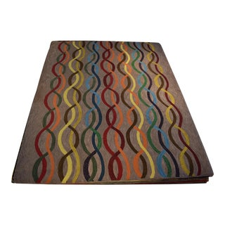 Cascade Patterned Hand Hooked Rug - 8′ × 10′