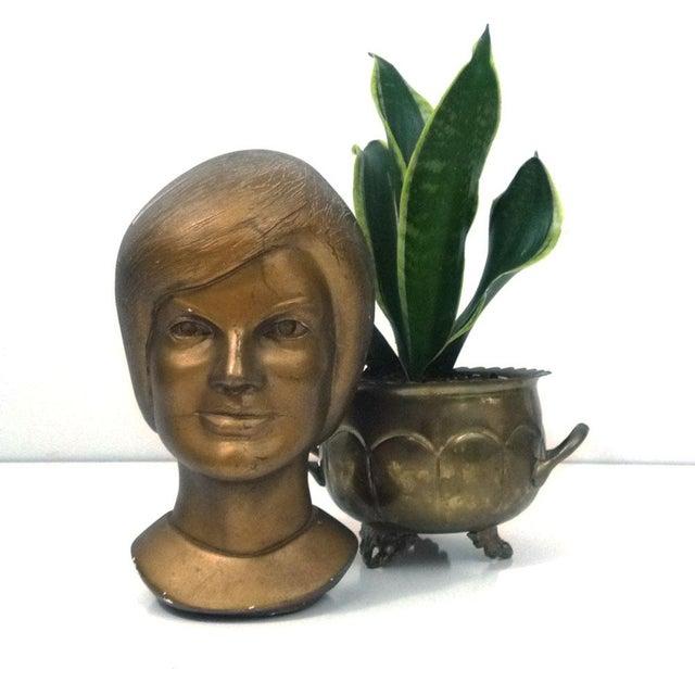 1963 Jacqeline Kennedy Chalkware Bust Bronze - Image 3 of 6