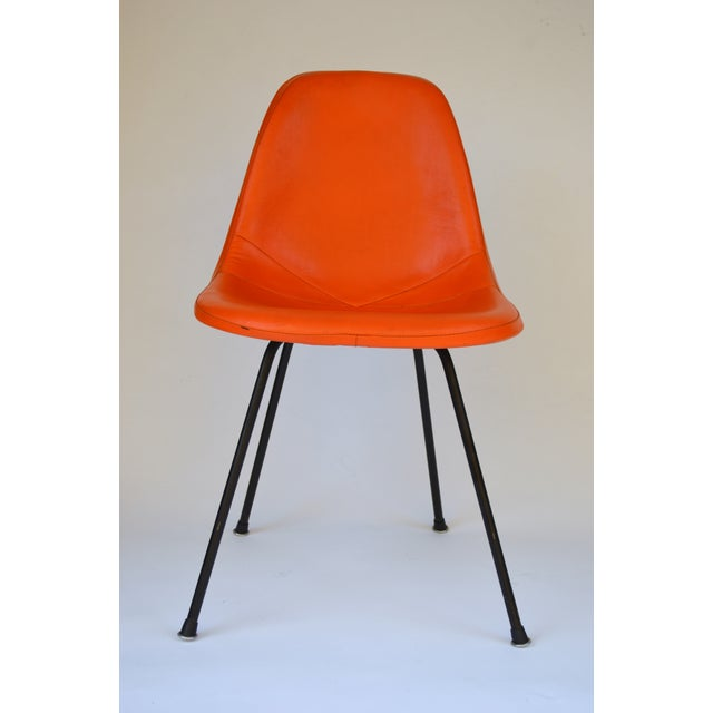 Herman Miller Eames Orange Vinyl Side Shell Chair - Image 3 of 9
