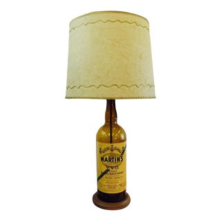 Antique Martin's Gold Bar Scotch Whiskey Lamp
