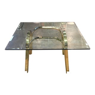 Vintage Modern Brass Arch Side Table