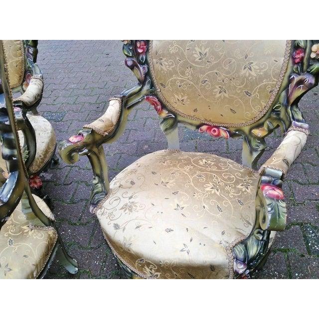 Image of Italian Rococo Chairs - Pair