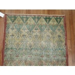 Image of Green Turkish Deco Runner Rug - 3'2'' X 8'5''