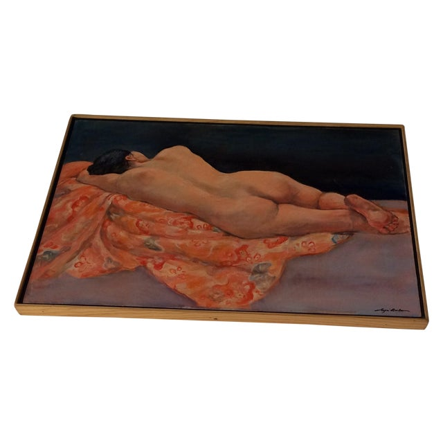 Image of Moscow Reclining Female Nude Painting