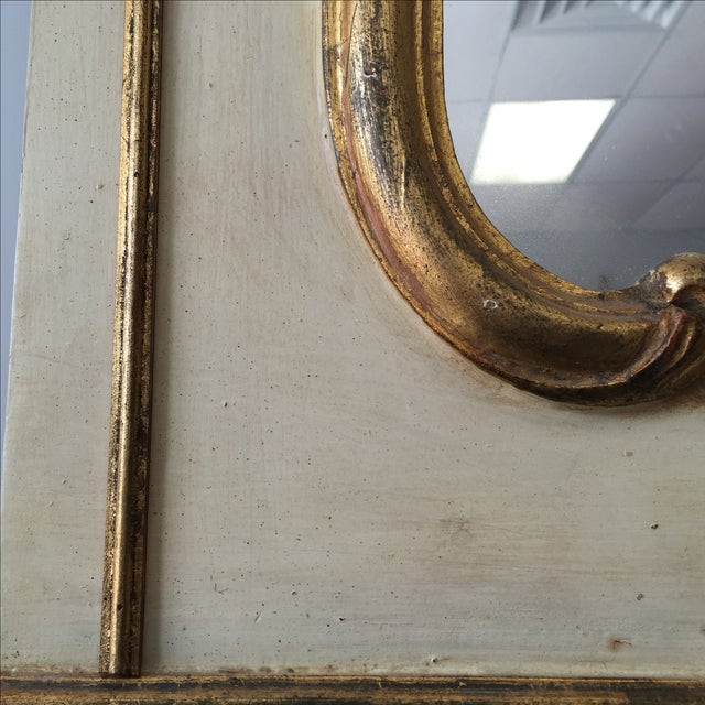 Hand Painted Italian Rococo Gilded Mirror - Image 5 of 11