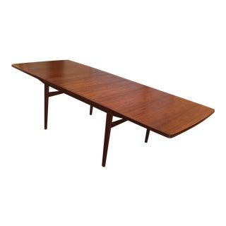 Danish Modern Expandable Teak Dining Table