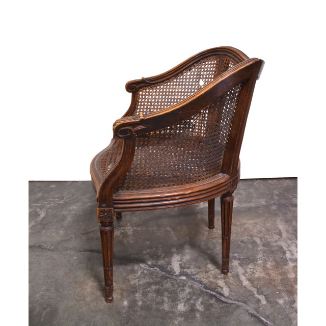 Vintage French Louis XV Caned Chair - Image 3 of 6