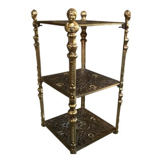 Victorian Style Three Tier Side Table Shelf