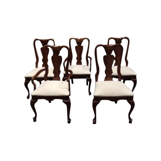 Chippendale Style Mahogany Chairs - 5 - Image 1 of 6