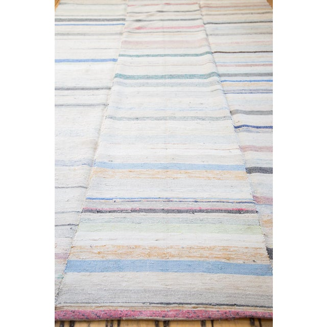 "Vintage Rag Rug Carpet - 6'6"" X 10'10"" - Image 4 of 7"