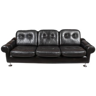 Danish Retro Black Sofa
