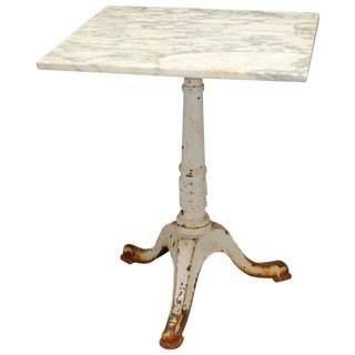French Marble Top Bistro Table